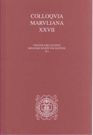 Colloquia Marvliana XXIX